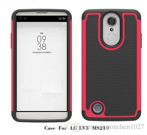 Горячая-продажа телефон обратно резиновые влияние броня чехол гибридный чехол для LG Aristo LV3 V3 MS210 M210 для LG MS210 подарки