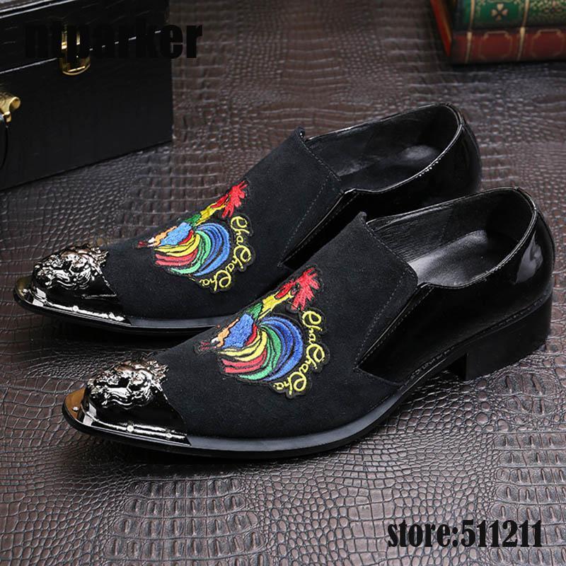 Мода вышивка мужчины оксфорды обувь британский стиль ну вечеринку свадебные черные замшевые туфли мужчины бархат