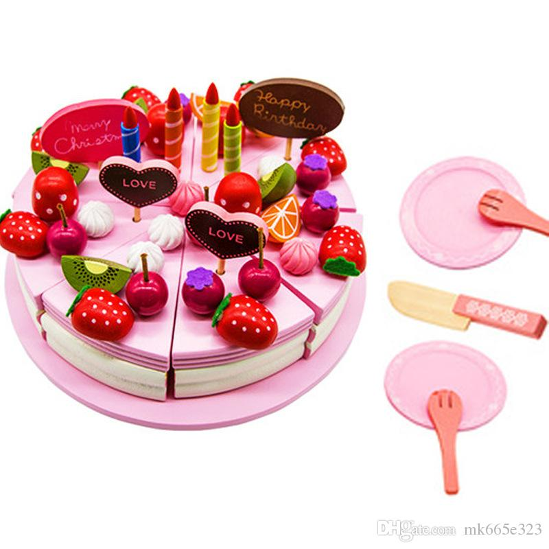 2019 Pizza Party Preschool Children Wooden Kitchen Food Fruit Vegetable  Cutting Kids Pretend Play House Educational Puzzle Learning Toys Sets From  ...