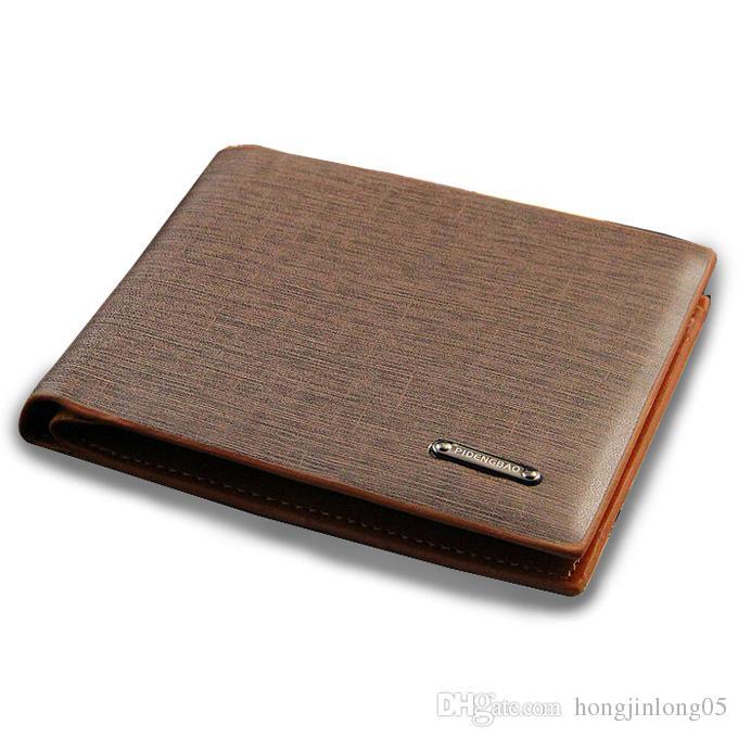 2017 mode neue männer leder brieftasche casual designer klassische handel bifold kartenhalter geldbörse brieftaschen für männer kostenloser versand