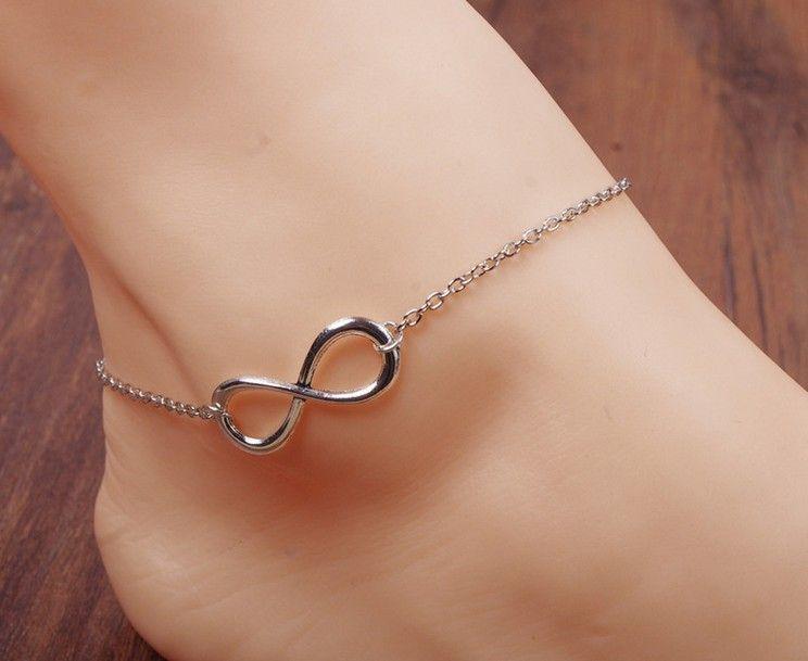 Summer Ankle Bracelet Double Chain Turquoise Beaded Women Beach Feet Decoration
