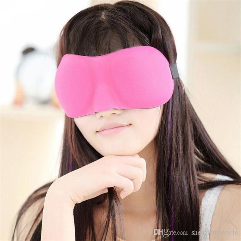 Voyage sommeil repos 3D éponge EyeShade sommeil masque cache-œil Patch Blinder pour les soins de santé