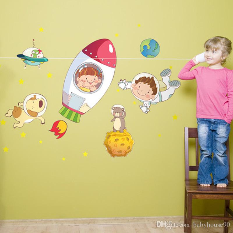 4 5hy4 New Universe Outer Space Wall Decals Sticker Kindergarten ...