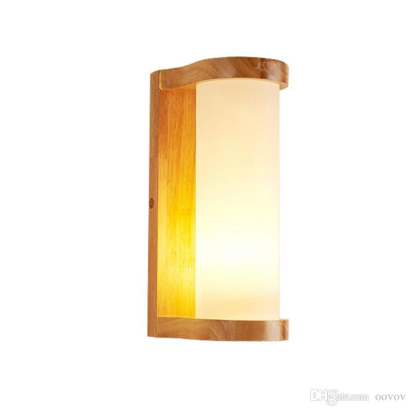 2021 Simple Wooden Bedroom Bedsides Wall Lamp Fashion Living Room Wall Lamps Balcony Aisle Hallway Wall Lights From Oovov 66 34 Dhgate Com