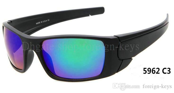 Gratis verzending heren zonnebril nieuwe aankomst zonnebril, sport zonnebril vrijetijd glazen bril bedekt met zon nee met gevallen !!