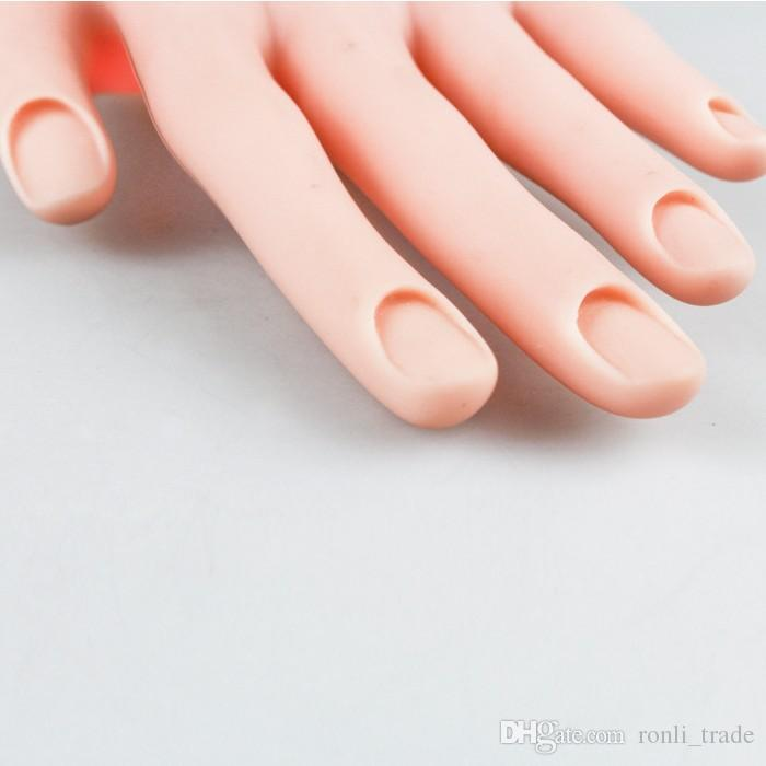 Nail Practice & Display Fake Palm Flexible Movable Practice Soft ...