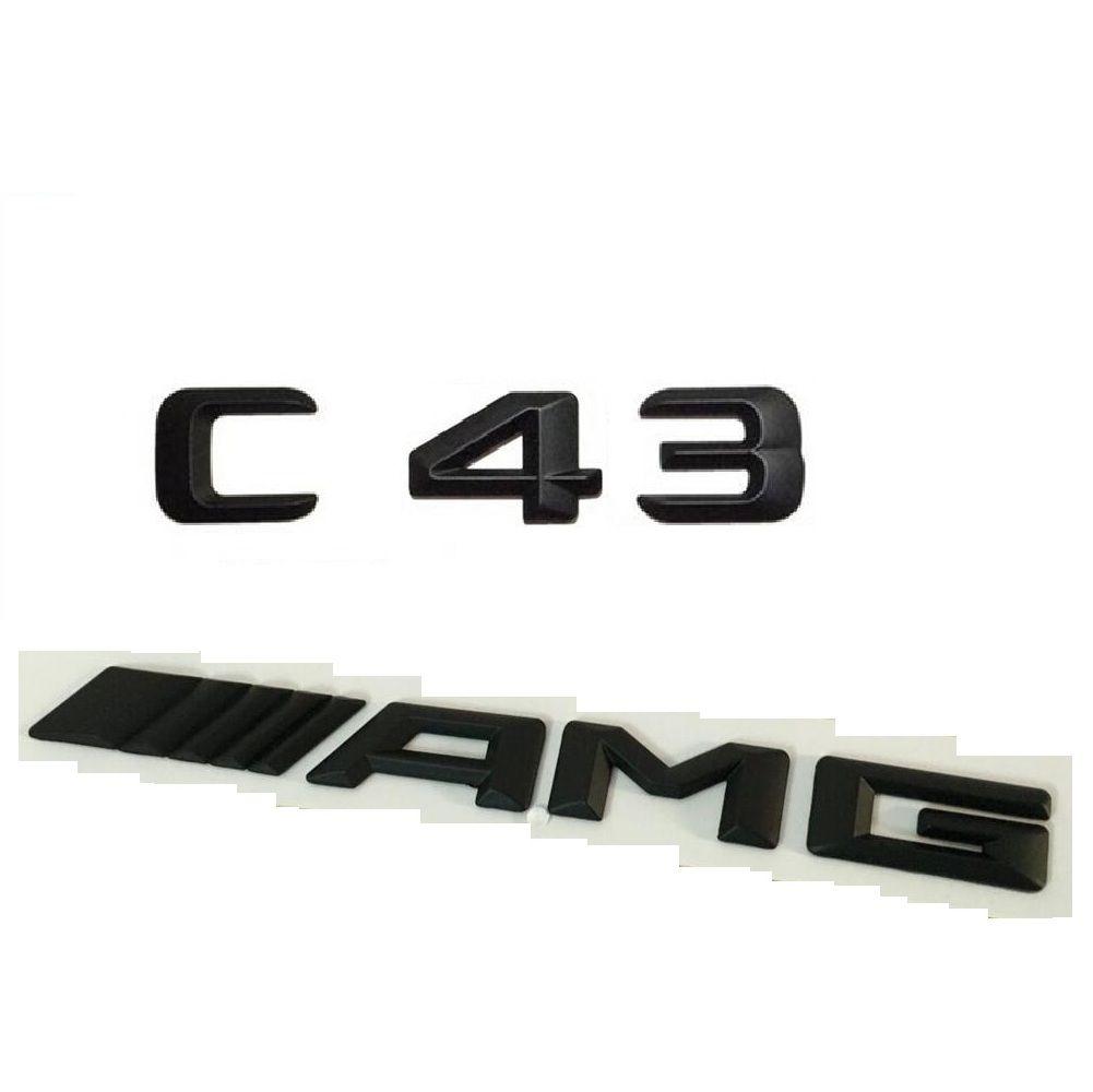 2019 Schwarz Nummer Briefe Kofferraum Emblem Aufkleber Für Mercedes Benz C43 Amg From Jianminyang Price Dhgatecom