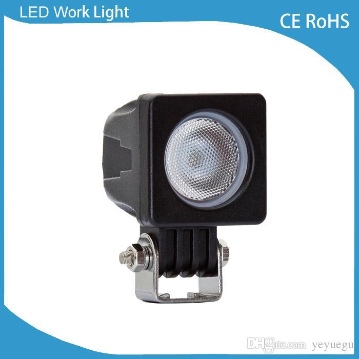 오프로드 ATV LED 12V 작업등을위한 10w 자동차 주도 워크 라이트 바 라이트 램프 스팟 홍수 빔 조명 전구 방수 내진성