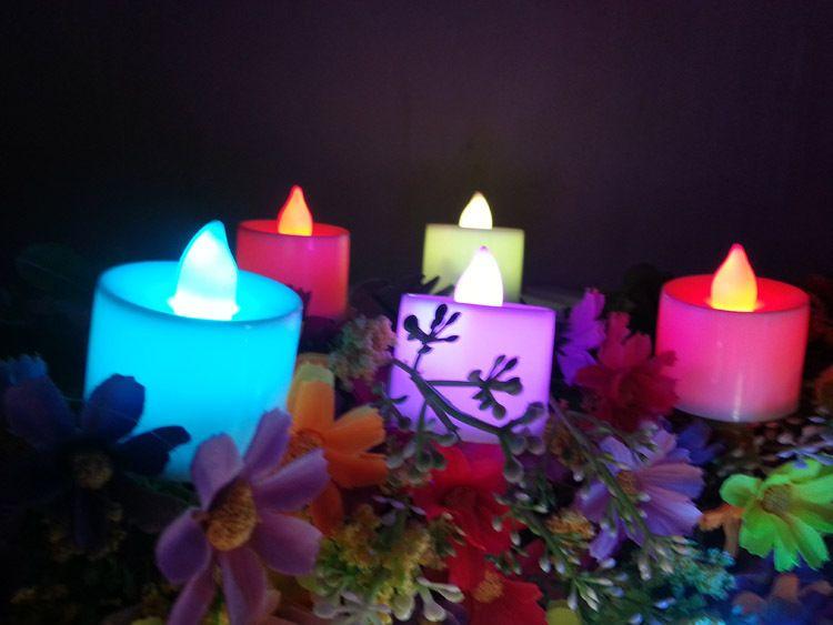 Venta caliente LED Luz Vivid Vivid Velles ecológicos en 6 colores para la decoración de la fiesta de boda del hogar Control remoto
