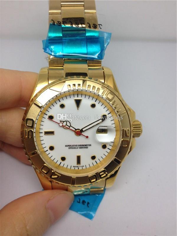 남자 골드 색상 흰색 얼굴 손목 시계 079에 대한 뜨거운 판매 남성 시계 기계식 자동 시계