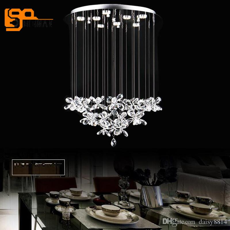 ... Schönes Design Moderne Kristall Kronleuchter Beleuchtung LED Lampe  Dia60 * H80cm Glanz Wohnzimmer Kronleuchter Licht ...