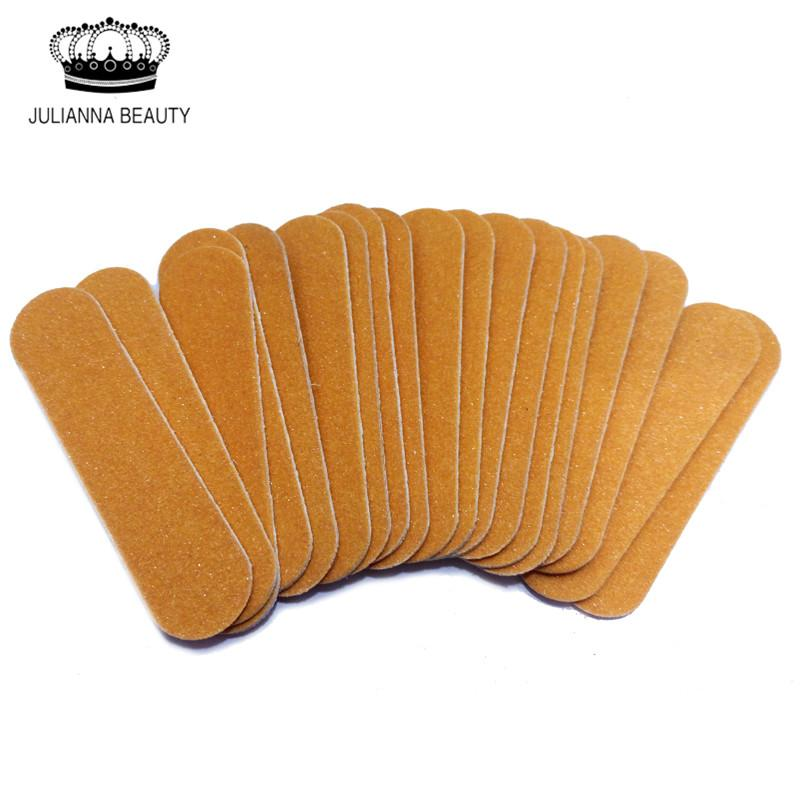 Wholesale- 100Pcs Colorful Mini Salon Board Nail Files Polishing Buffing Sandpaper Manicure Nail Tools Disposable Cuticle Remover Buffer