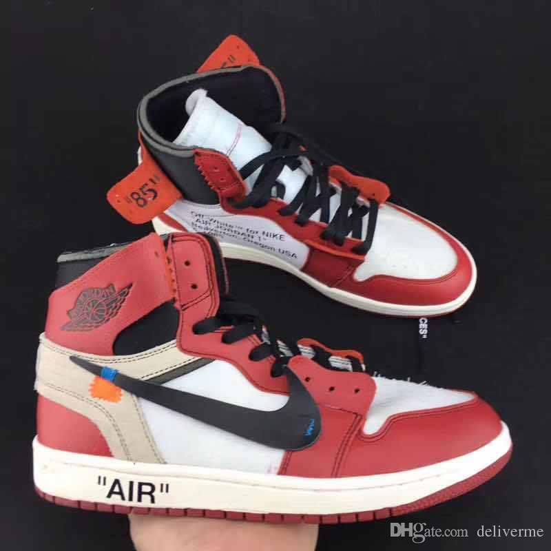 buy popular c22c1 f8f84 2018 Off White X Af1 Air Retro 1s Jordans 1 Jordan'S 85 Number Swoosh Men  Basketball Shoes Running Sneakers Beaverton Oregon Usa C. 1985 From ...