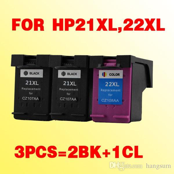 2bk + 1color inktcartridge voor HP21 21XL voor HP22 22XL DSEKJET D1360 D1460 D2360 D2460 3920