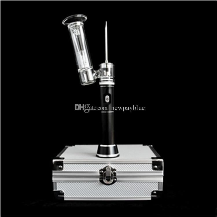 Vaporisateur classique stylo-cire E-clou 510-Nail Dabber Rig Kit Vape Chaleur Céramique Tuyau En Verre Bong Dab 2200mah Batterie Titane