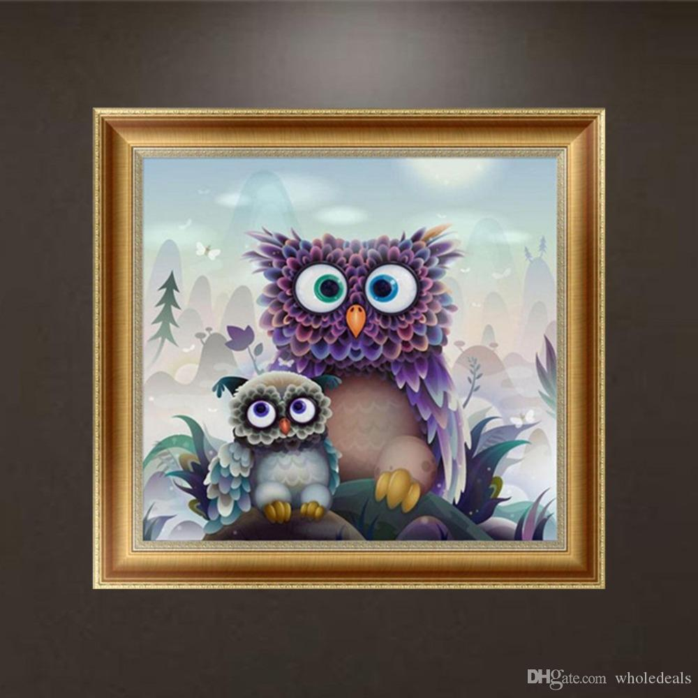DIY Special 5D Diamond Mosaic Painting Owl Cross Stitch Crafts Home Decoration