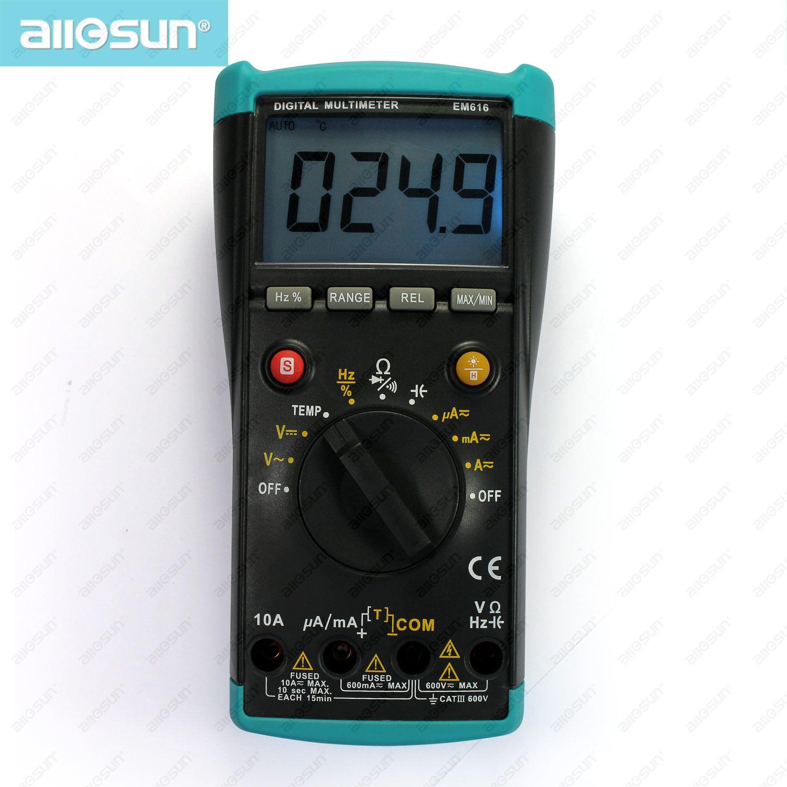 Digitale Auto Range Multimeter LCD-Digital-Display-CAT III 600 V Volt-Ohm-Meter All Sun EM616
