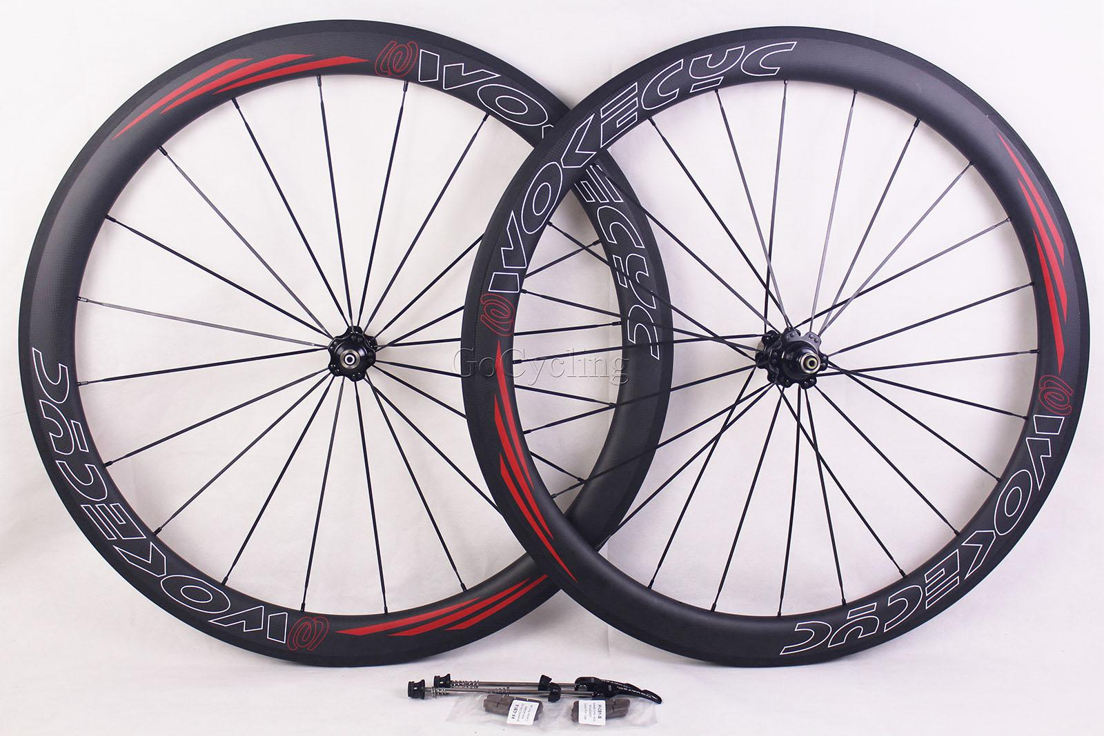 탄소 자전거 바퀴 현무암 브레이크 서프 림 깊이 50mm 클린 처 튜브 모양의 도로 사이클링 자전거 경주 novatc hubs와 700C wheelset