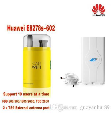 Huawei E8278s-602 4g Lte Cat.4 Modem & Wi-fi Router Unlocked New in Box plus 49dbi 4G LTE antenna