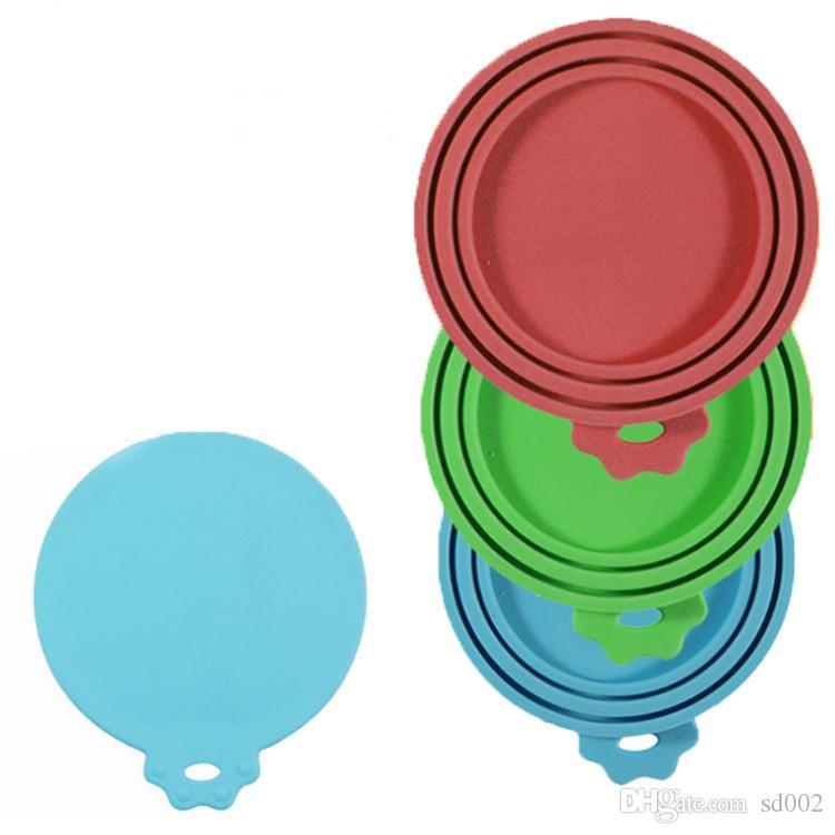 Custodia in silicone Cover multi funzione Seal Up Conserva coperchi freschi Custodie sospese Round Storage Resistant Resistente alle alte temperature 4 9wf B