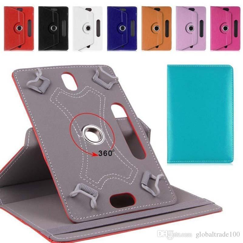 360 Degree Rotate Leather Case Cover Stand For Universal 7 8 9 10 inch Samsung Galaxy Tab 3 4 iPad Air Tablet PC