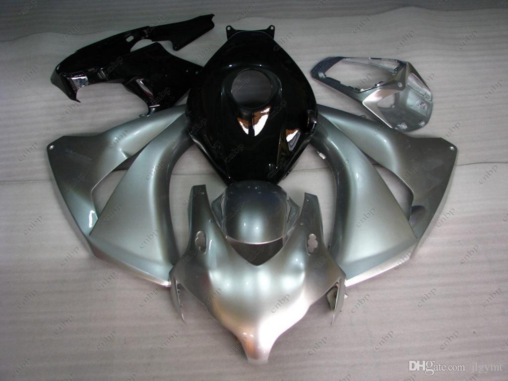 Honda Cbr1000 RR 2008 Tam Vücut Kitleri Fireblade için Plastik Kaplamalar 10 11 Simli Siyah ABS Fairing CBR 1000 RR 2011 2008 - 2011