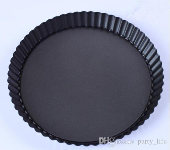 5pcs / lot, 8 인치 국화 비 스틱 베이킹 금형 2.7 cm 깊은 케이크 스테인리스 피자 팬 또는 오븐 요리 파이 팬