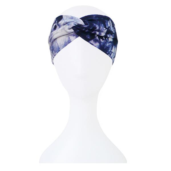 f063dcbe2d9 Tie Dye Printing Twist Stretch Cotton Headbands Elastic Hair Bands Women  Girl Hair Accessories Turban Headwear Bandage Bandanas