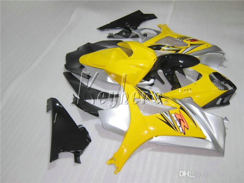 Kit de carénage en plastique des meilleures ventes pour Suzuki GSXR1000 2007 2008 carénages jaune noir gsxr 1000 07 08 OY71