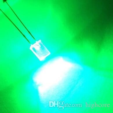Смешивание через отверстие прямоугольное 257 2*5*Цвет диода Сид 7mm красный / зеленый / голубой / желтый / белый / розовый / Померанцовый