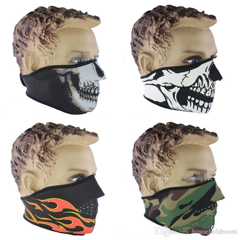 Outdoor-Sportarten Fahrrad Radfahren Balaclava unisex warme Bandana Gesichtsmaske Windproof CS Schädel Half Face Masken