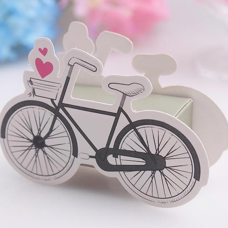 100 stücke Bike Muster Süßigkeitskästen Baby dusche Geschenkbox Hochzeit Gefälligkeiten Neu