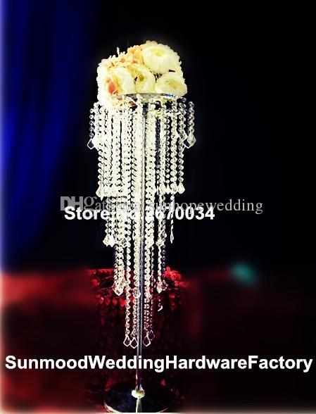 100cm ارتفاع) أكريليك المركزية الزفاف زهرة زهرية للزينة الكلمة الزفاف