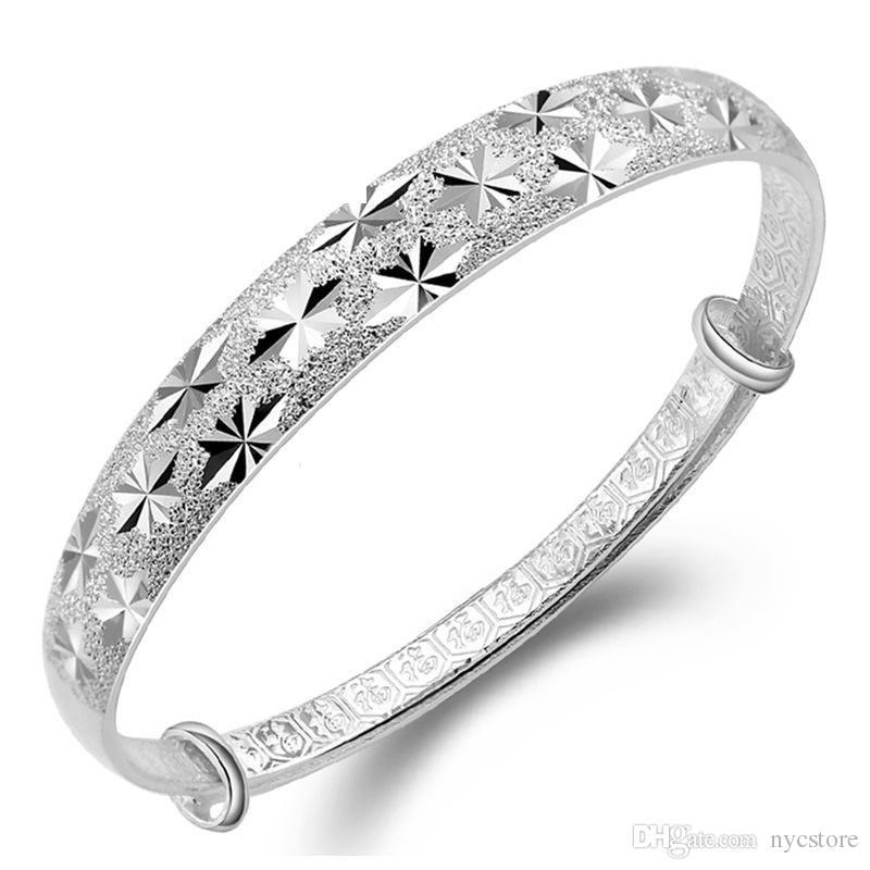 wholesale S999 Silver Bangle Bracelet jewelry,sterling Silver Bracelet