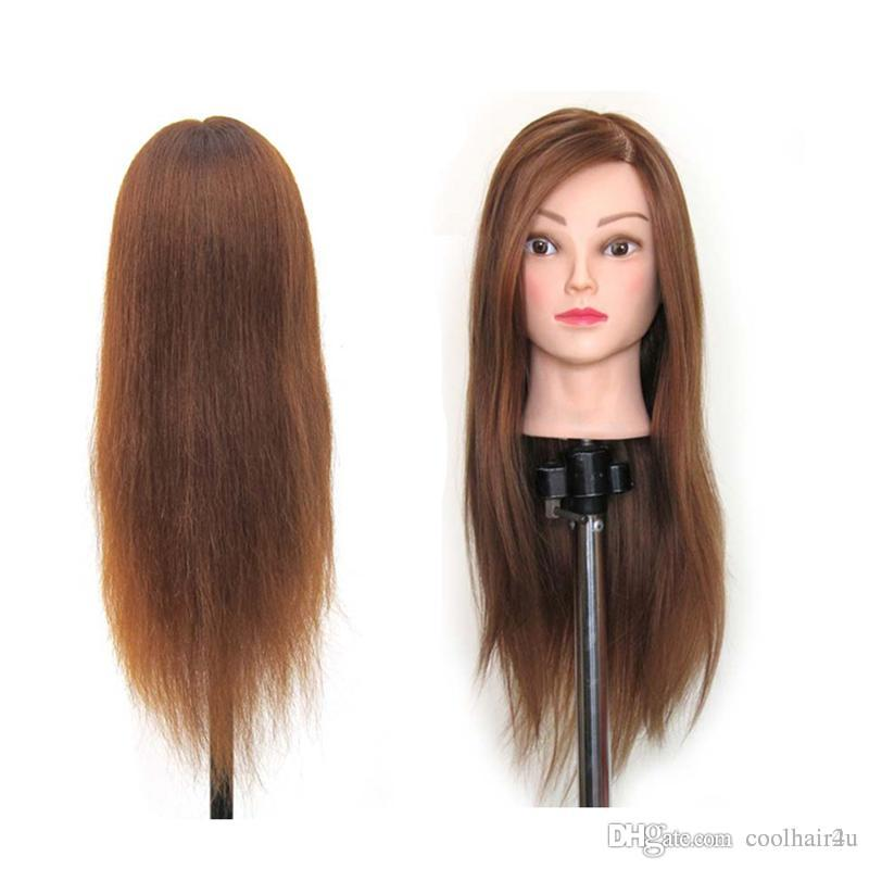 """Capelli sintetici 22 """"Salon Parrucchiere Manichino Pratica Training Testa osmetologia Mannequin Head con supporto per morsetto per capelli"""