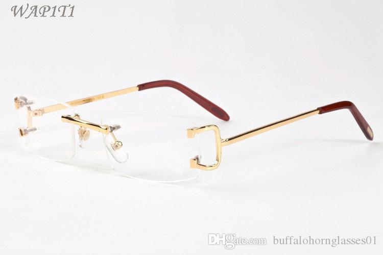 أزياء رجالي النظارات الشمسية موقف للقرن الجاموس الرجال نظارات 2020 نقطة بدون شفة خمر الرجعية النظارات النظارات الذهب معدن الفضة ليون واضح