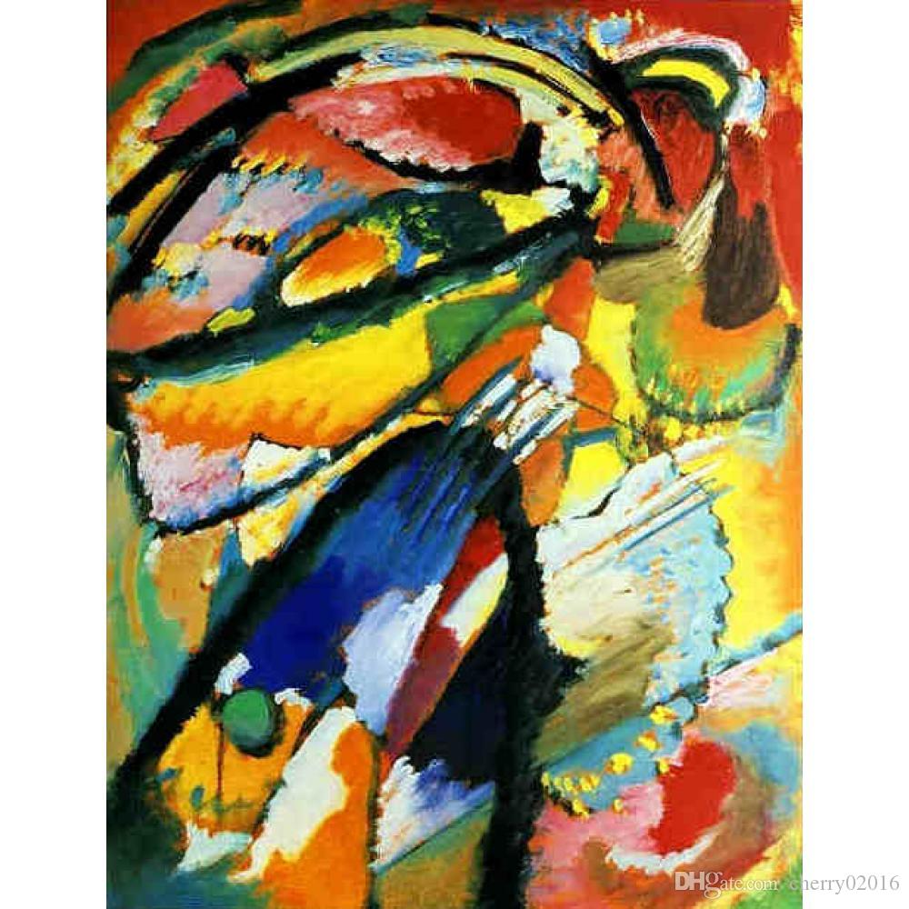 Высококачественные современные картины Василия Кандинского «Ангел Страшного Суда», холст, масло ручная роспись Домашний декор