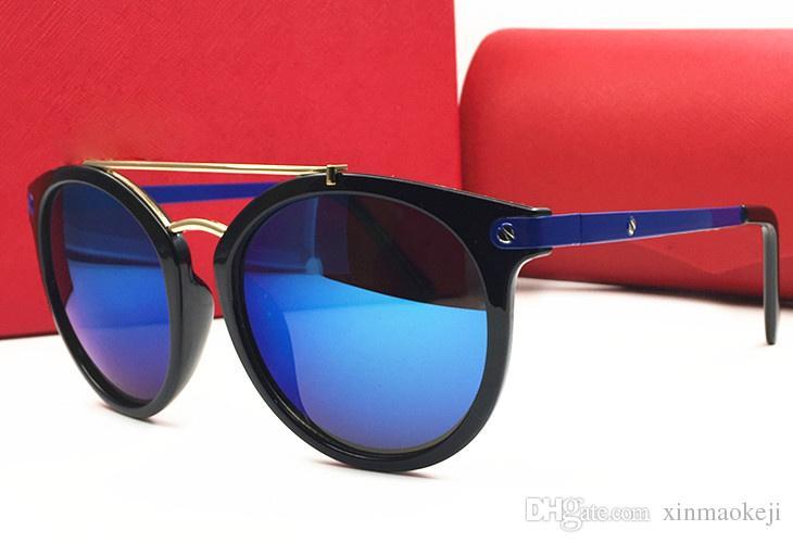 Neue Ankunfts-Sommer-Sonnenbrille Marke Designer Damen-Sonnenbrillen rot UV-Schutz Vintage-Sonnenbrillen mit Kasten
