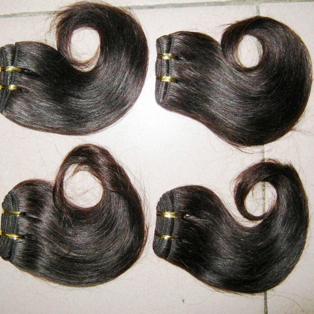 أرخص 6pcs / lot ملحقات الشعر الإنسان البرازيلي الملمس لينة حزم حريري