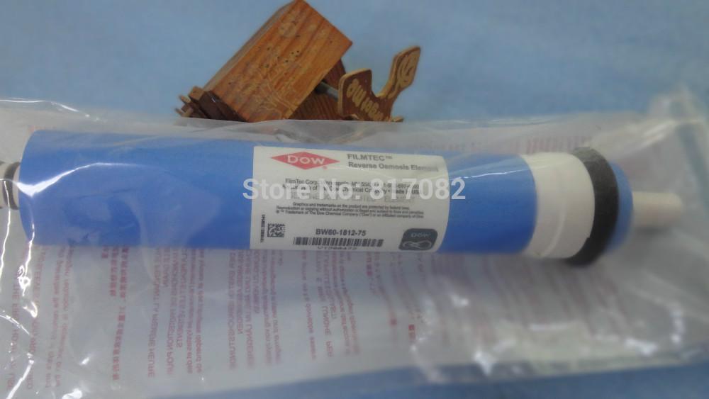 Satılık dow filmtec su filtresi için 75 gpd ters osmoz membran BW60-1812-75