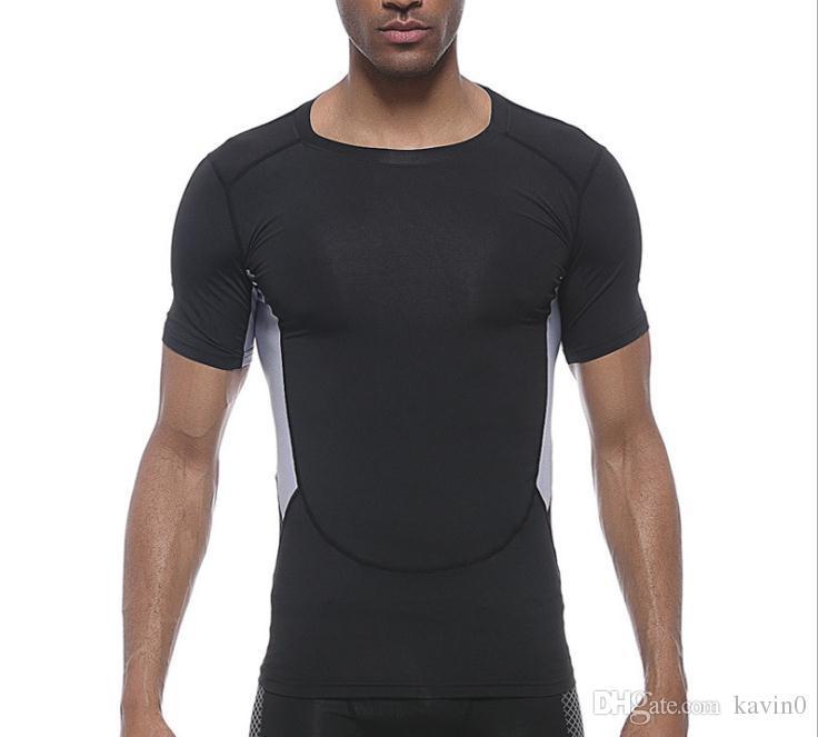 NEUE 2017 outdoor-strumpfhosen männer sport kurzarm patchwork radfahren trockenlauf geschwindigkeit fitness basketball basis t-shirt kompression t-stück männer
