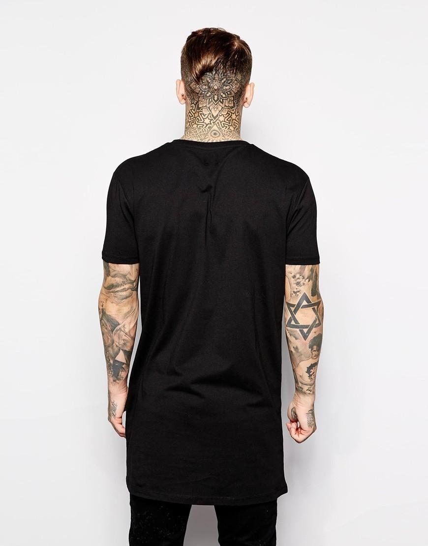 genuine shoes clearance sale look for 2017 Brand New Clothing Mens Black Long T Shirt Men Tops Hip Hop Tee T  Shirt Men Hiphop Short Sleeve Longline Casual Tee Shirts Buy Cool T Shirts  ...