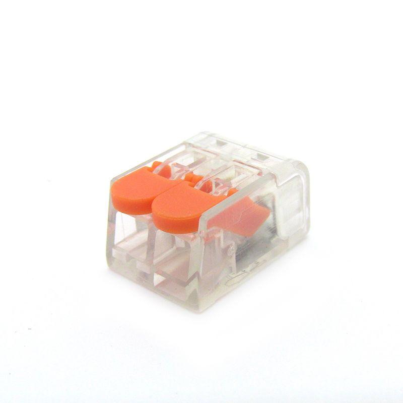 (100 pezzi / lotto) suye 221-412 tipo PCT-412 Universale Compatto Conduttore Morsetto Leva Cavo di Casa tipo connettore 2 poli cavo morsetto dado
