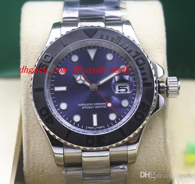 Orologio da polso di lusso di alta qualità 116622 40 millimetri in acciaio platino quadrante blu orologio da uomo automatico meccanico blu quadrante luminoso orologi nuovo arrivo