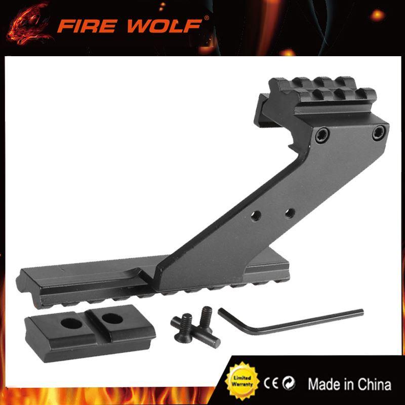 النار الذئب العالمي التكتيكية مسدس نطاق جبل ويفر picatinny السكك الحديدية مسدس السكك الحديدية لإضافة نطاق البصر مضيا الليزر