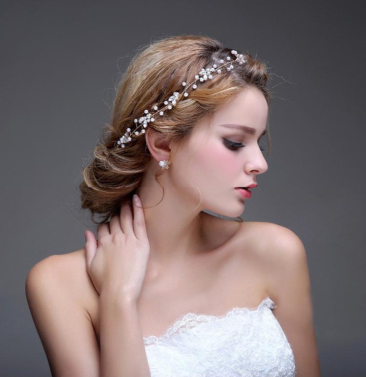 Старинные ленты кристаллы и жемчуг свадьба оголовье свадебные украшения для волос Волосы винограда аксессуары для волос подружки невесты
