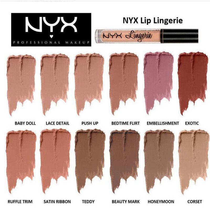 Nyx Lingerie Liquid Matte Lipstick Waterproof Nude Lip Plumping ...