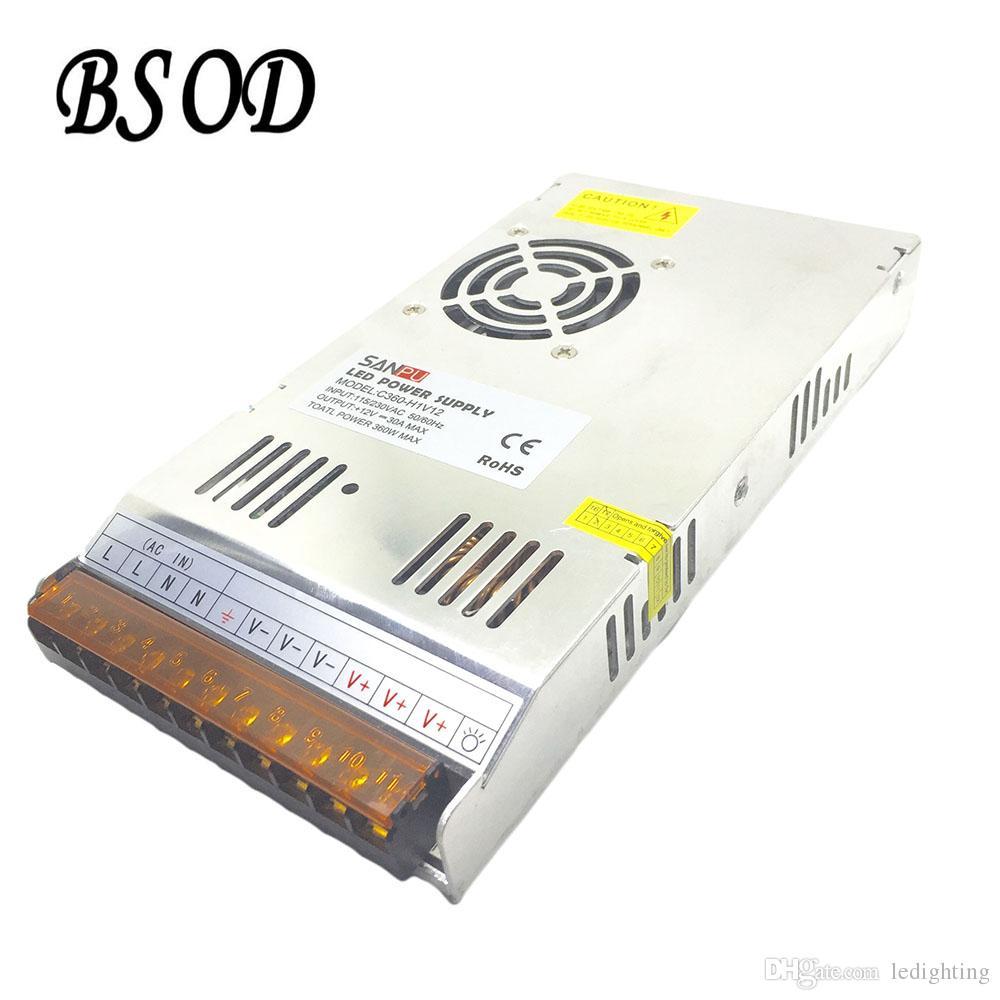 SANPU 360W DC12V Schaltnetzteil AC zu DC-LED-Beleuchtungstransformator C360-H1V12 Ultradünner Aluminium-Shell-30A-Treiber mit Lüfter