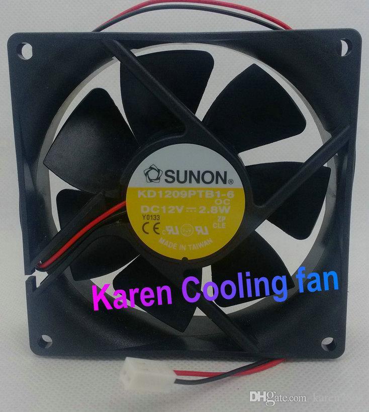 Ny original Sunon KD1209PTB1-6 (OC) DC12V 2.8W 9cm 9225 Kullager Kylfläkt