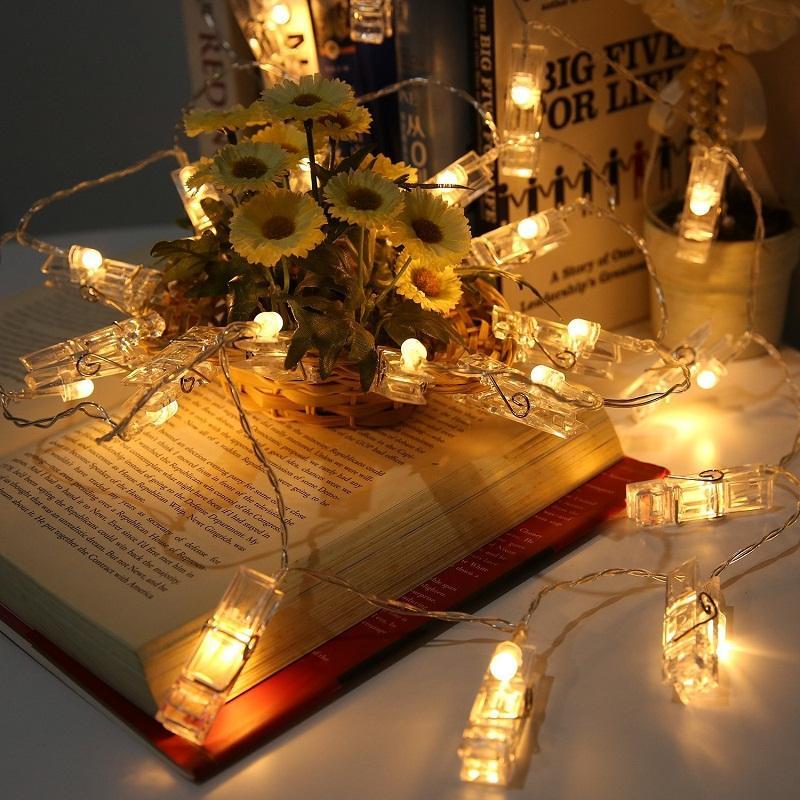 Lichterketten Peg Clip LED Lichterketten Batteriebetriebene Home Party Hochzeitsdekorationen Weihnachts Clip Nachtlichter